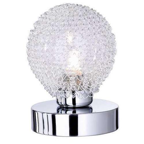 rl wire r59321106 lampka stołowa lampa 1x28w g9 chrom / transparentny marki Trio