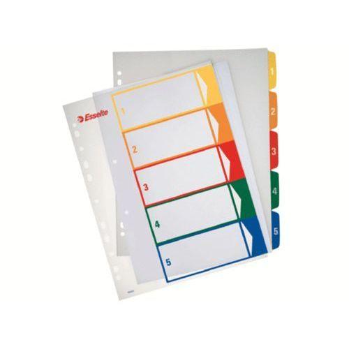 Esselte  przekładki plastikowe do nadruk tekstu na kartę, 1-5