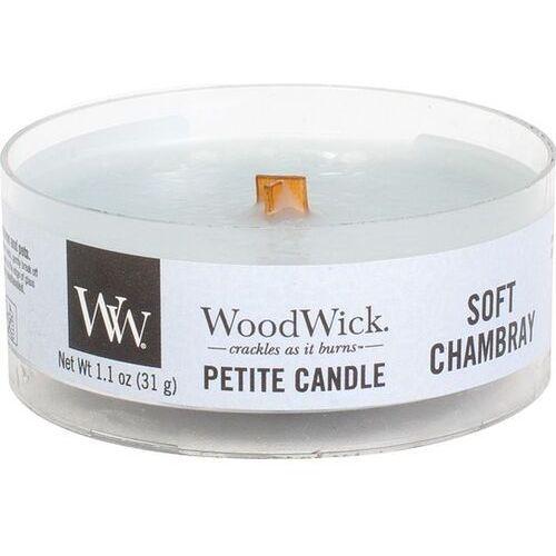 świeca petite soft chambray 31g marki Woodwick