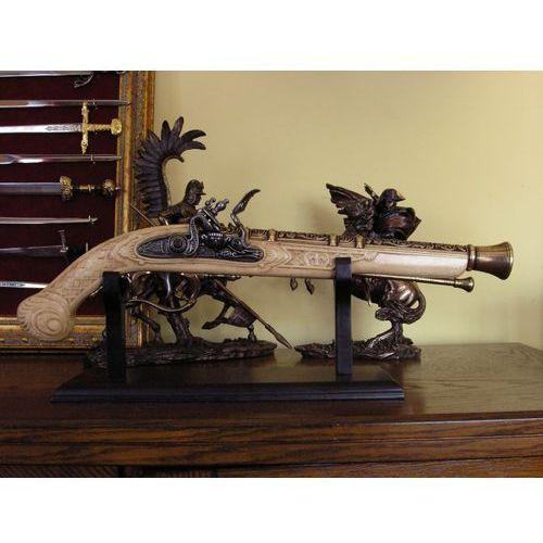 Unikatowy garłacz myśliwski - zamek skałkowy repliki broni palnej (k1105-m) marki Hiszpania