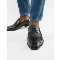 wing tip loafers in black leather - black marki Dune