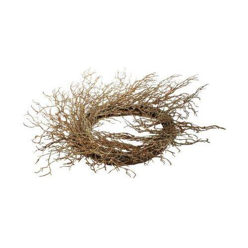 Wianek świąteczny 80 cm bożonarodzeniowy złoty (5907556742772)