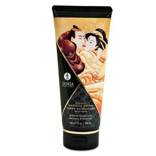 Jadalny krem do masażu słodkie migdały 200 ml | 100% dyskrecji | bezpieczne zakupy marki Shunga (can)