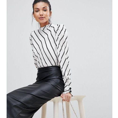 Asos design tall sculpt me leather look midi skirt - black, Asos tall