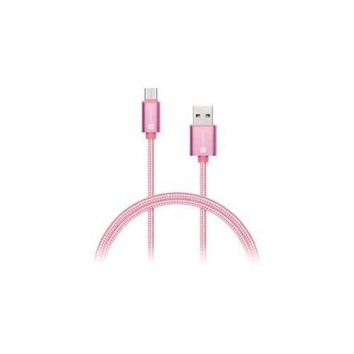 Connect it Kabel wirez premium usb-c, 1m (ci-667) różowy /złoty