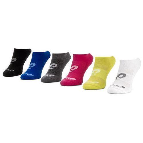 Zestaw 6 par niskich skarpet unisex - 6ppk invisible sock 135523v2 black assorted 0965 marki Asics