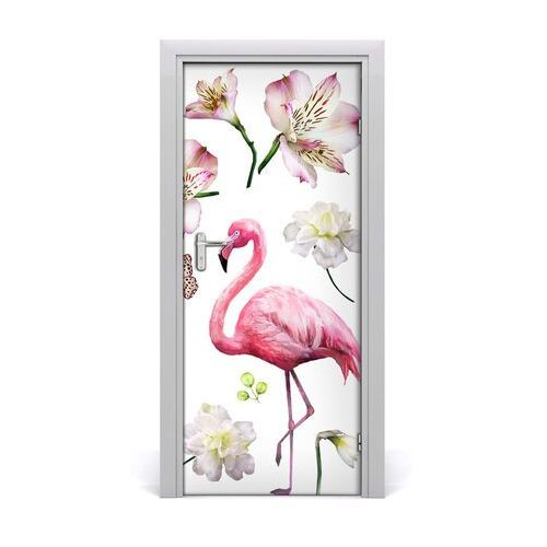 Naklejka samoprzylepna na drzwi tropikalna kolekcja marki Tulup.pl