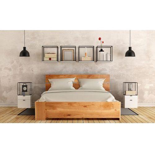 Łóżko dębowe z pojemnikiem na pościel CLASSICA 1