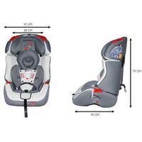 Fotelik Samochodowy KinderSafe DeLuxe ISOFIX 9-36 KG GE-S - Szary (5902921964513)