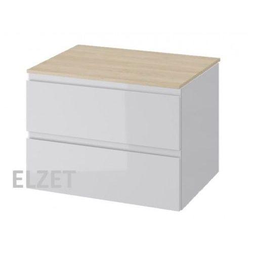 CERSANIT szafka Moduo szary połysk pod umywalkę nablatową + blat 80 S929-007+S590-023, kolor szary