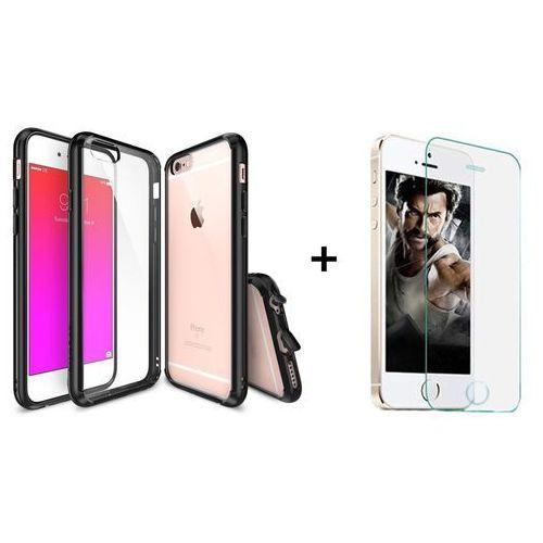 Zestaw | Rearth Ringke Fusion Black + Szkło ochronne | Etui dla Apple iPhone 6 Plus / 6S Plus, kolor czarny