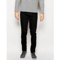 Nudie Jeans Lean Dean Slim Tapered Fit Dry Cold Black - Black, kolor czarny