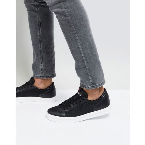 River Island Trainers With Side Mesh Detail In Black - Black