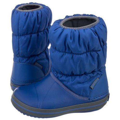 Śniegowce Crocs Winter Puff Boot Kids Cerulean Blue 14613-4BH (CR61-c), kolor niebieski