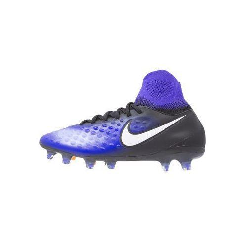 Nike Performance MAGISTA OBRA II FG Korki Lanki black/white/blue/blue tint/hyper orange