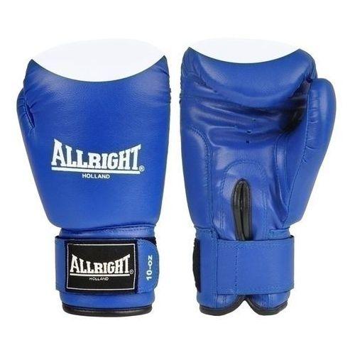 Rękawice bokserskie pvc 8oz niebiesko - białe marki Allright
