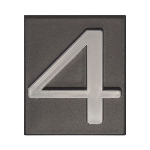 Cyfra 4 wys. 5 cm PVC grafitowa (5906681288148)