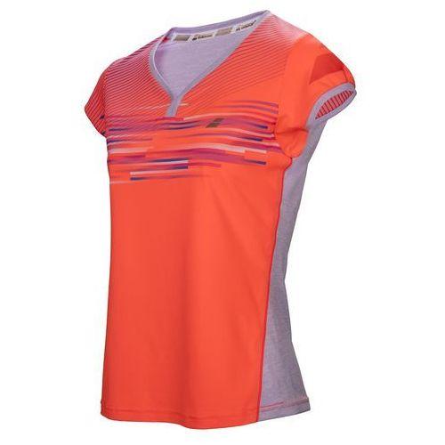 performance cap sleeves top girl - fluo strike marki Babolat