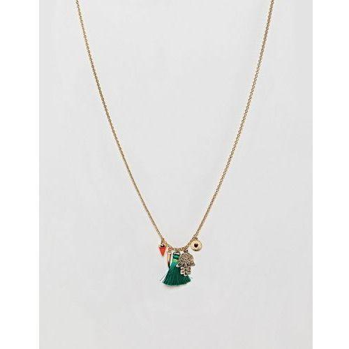 gold plated medina charm cluster necklace - gold marki Orelia