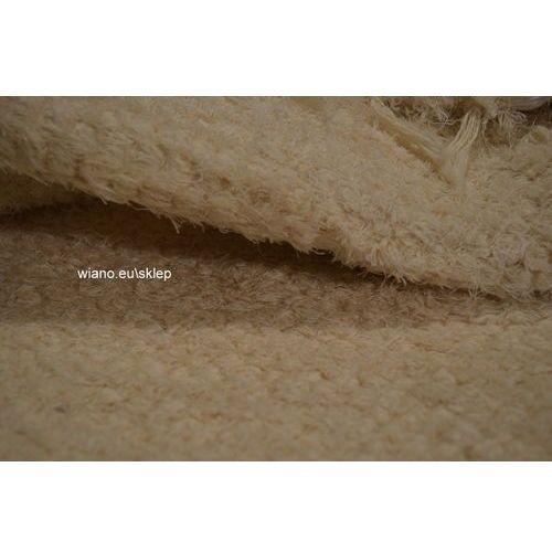 Twórczyni ludowa Chodnik bawełniany ręcznie tkany ecru 65x150 cm