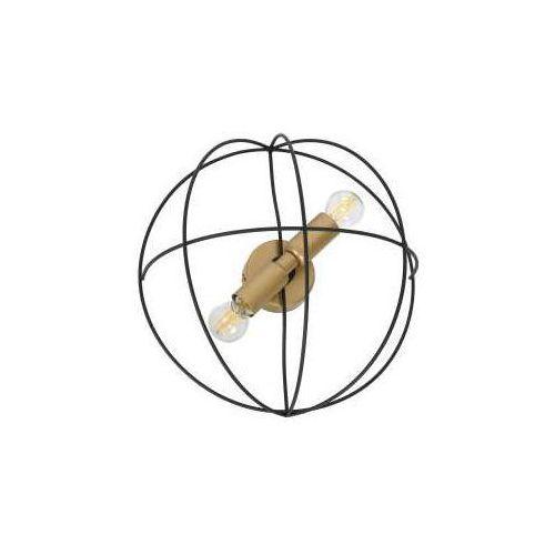 Luminex copernicus 1096 plafon lampa sufitowa 2x60w e14 czarny / złoty