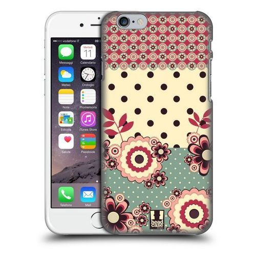 Head case Etui plastikowe na telefon - floral dots pink cream
