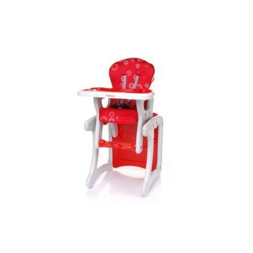 4baby krzesełko do karmienia fashion czerwone