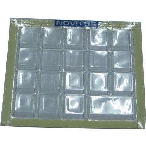 Gumowa pokrywa klawiatury (19 klawiszy) Gumowa (przezroczysta) nakładka ochronna na klawiaturę z logo NOVITUS (przyklejana na obudowę kasy). Zabezpiecza przed zabrudzeniem i zalaniem klaiwatury oraz wnętrza kasy