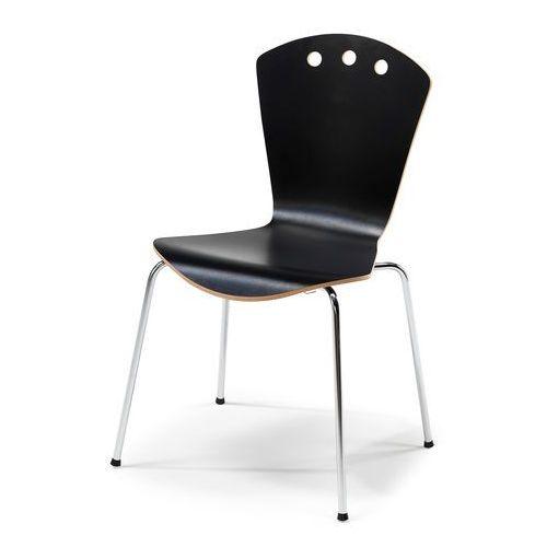 Krzesło do stołówki ORLANDO, czarny, chrom