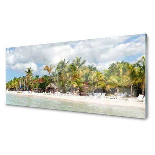 Tulup.pl Panel kuchenny plaża palma drzewa krajobraz