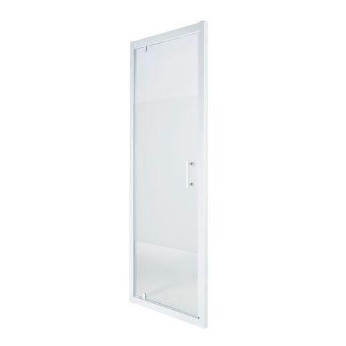 Drzwi prysznicowe wahadłowe onega 90 cm biały/wzór marki Cooke&lewis