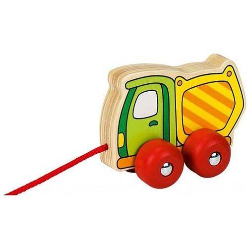 Drewniana betoniarka do ciągnięcia, samochód drewniany, 54923-Goki, zabawki dla chłopców