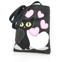 Shellbag Torba na zakupy czarny kot