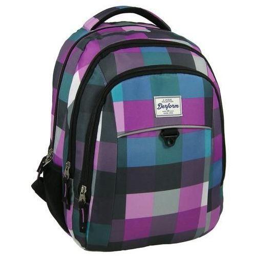 Plecak młodzieżowy 17 D 31 pastelowa krata (5901130047833)
