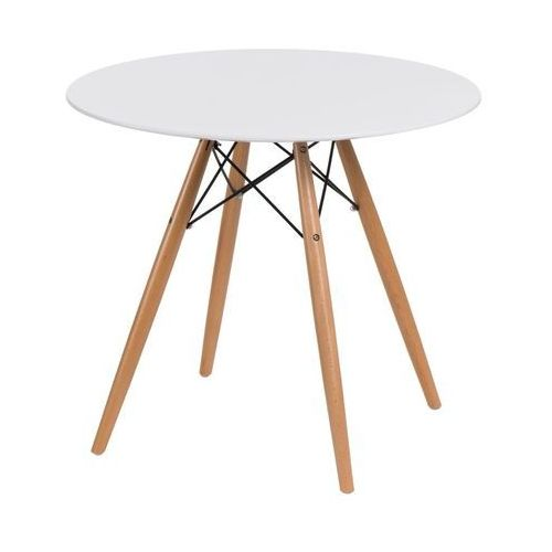 D2.design Stół dtw 80 cm, biały/ naturalny