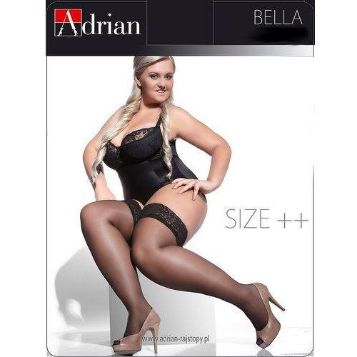 Pończochy bella size++ 15 den 5/6, biały, adrian marki Adrian