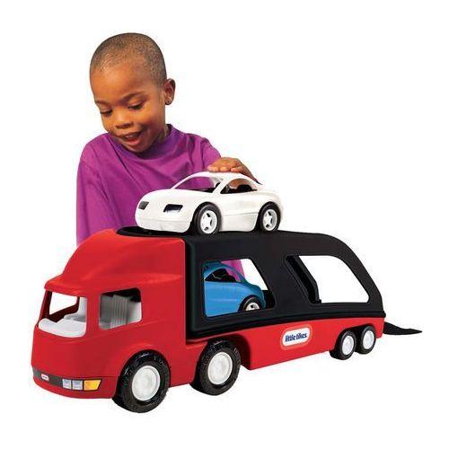 transporter samochodów lt, czerwono-czarny, 484964 marki Little tikes