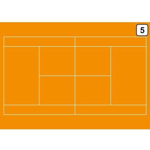 Tablica trenerska taktyczna suchościeralna 180 tenis ziemny marki Wally - piękno dekoracji