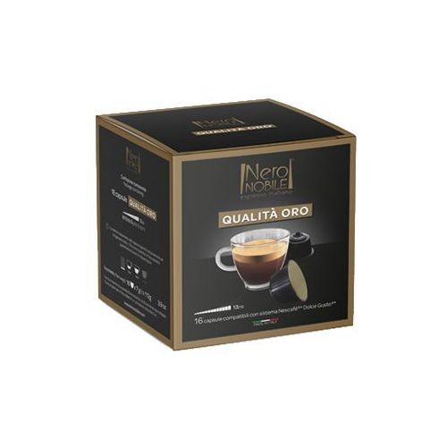 Nero nobile Kapsułki do nescafe dolce gusto* złota jakość/qualita oro 16 kapsułek - do 12% rabatu przy większych zakupach oraz darmowa dostawa (8033993871960)