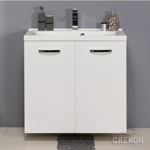 Biała szafka łazienkowa z umywalką 80/48/k jona marki Gante
