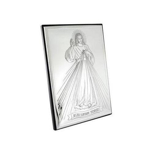Obrazek srebrny z wizerunkiem jezusa - 2l - 6 x 9 cm marki Valenti