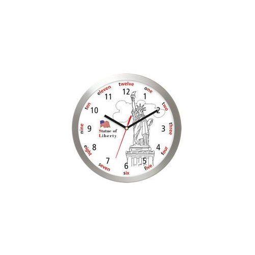 Aluminiowy zegar ścienny statua wolności marki Atrix