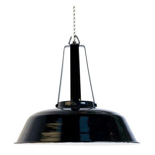 Hk living :: przemysłowa lampa workshop czarna, rozmiar l