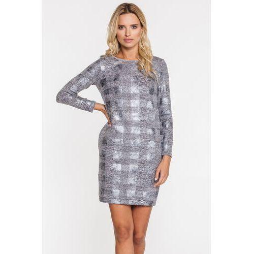 Sukienka w błyszczącą kratę - marki Ennywear