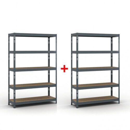 Regał półkowy 1800 x 1200 x 400 mm, nośność 280 kg 1+1 gratis marki B2b partner