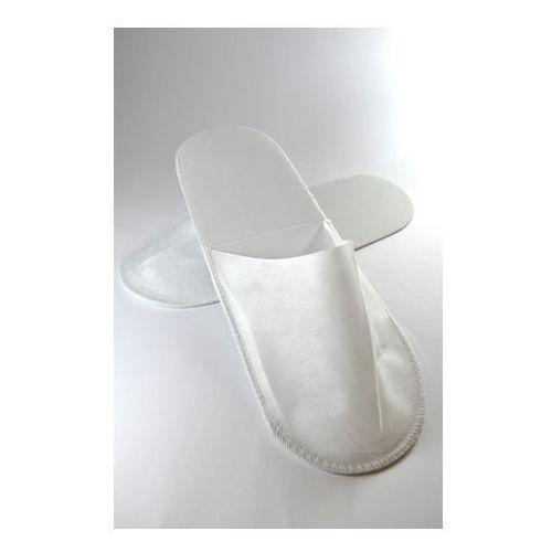 Kapcie Jednorazowe Białe Z Włókniny Zakryte Palce 10szt