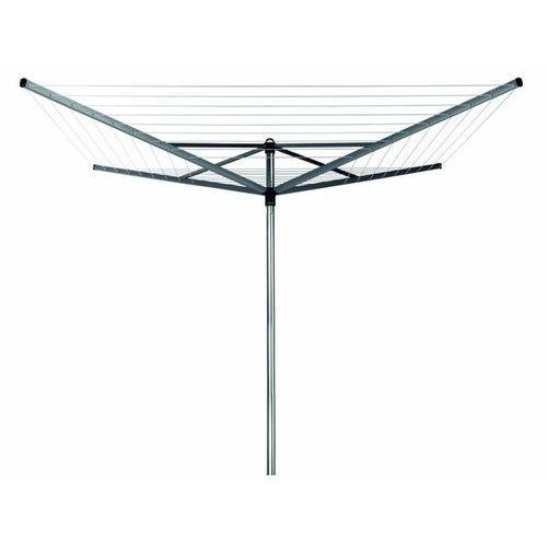 - suszarka ogrodowa topspinner 50m, 4 ramiona - mocowanie stalowe (do gruntu) - szary marki Brabantia