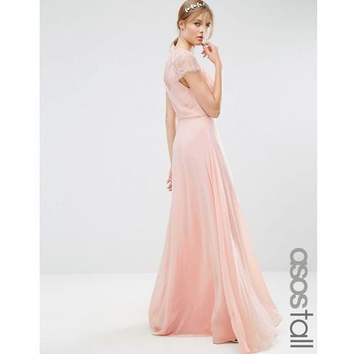 Asos tall  kate lace maxi dress - beige
