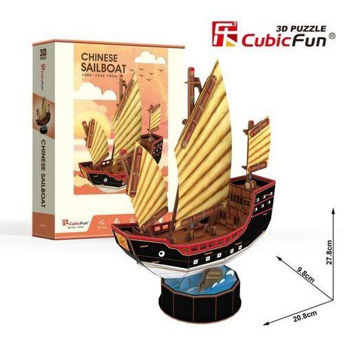 Cubicfun Puzzle 3d żaglowiec chinese sailboat 62 elementy