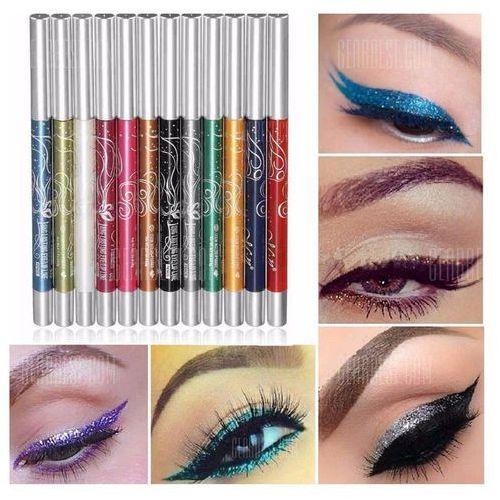 12 Colors Auto-Rotate Professional Eye Shadow Lip Liner Eyeliner Pen Makeup Kit